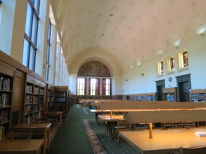 reference room in the library