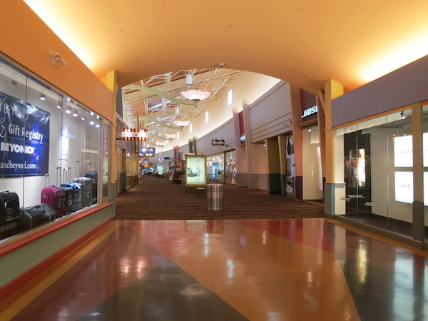 inside the outlet mall