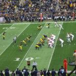 ミシガン大学でアメリカンフットボールを観戦